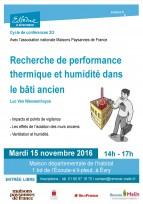 Réhabilitation et humidité dans le bâti ancien - Essonne, 15 novembre